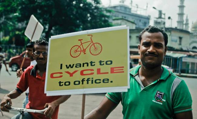 Kolkata cyclists demand right to ride