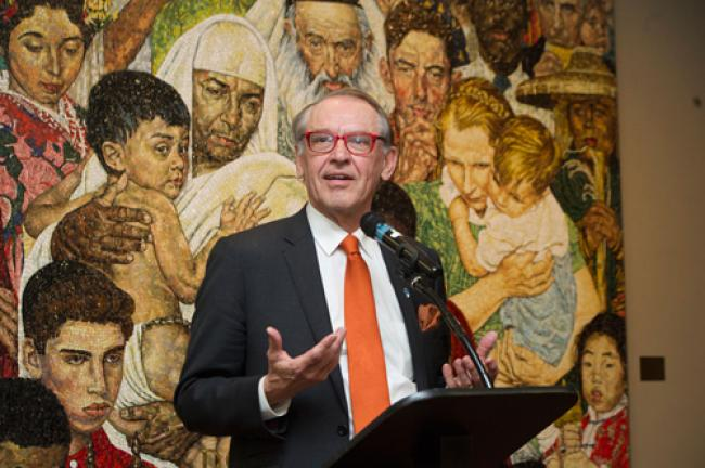 Norman Rockwell mosaic rededicated at UN Headquarters