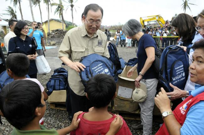 Philippines: Ban urges support for typhoon recovery plan