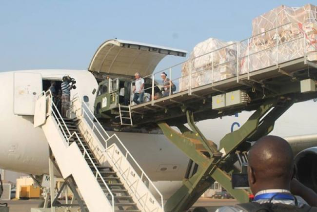 UNICEF airlifts urgent supplies to South Sudan