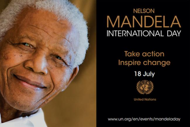 UN: Can you spare 67 minutes to take action on Nelson Mandela Day?