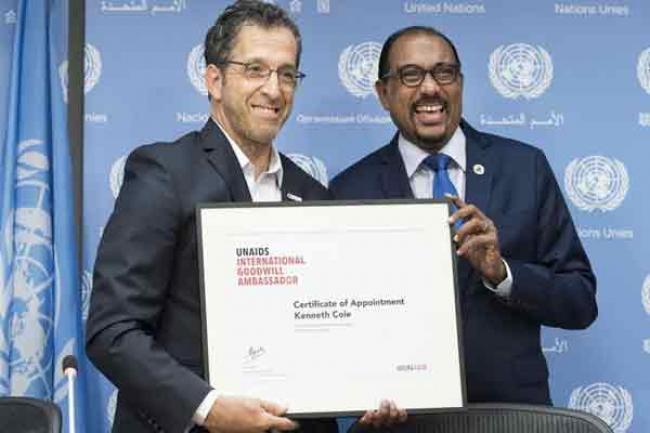 UNAIDS appoints amfAR chair and fashion designer Kenneth Cole as Goodwill Ambassador