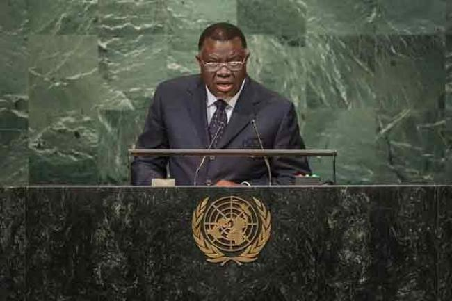 At UN, Namibian President vows to 'spare no effort' to lift nation's people out of poverty
