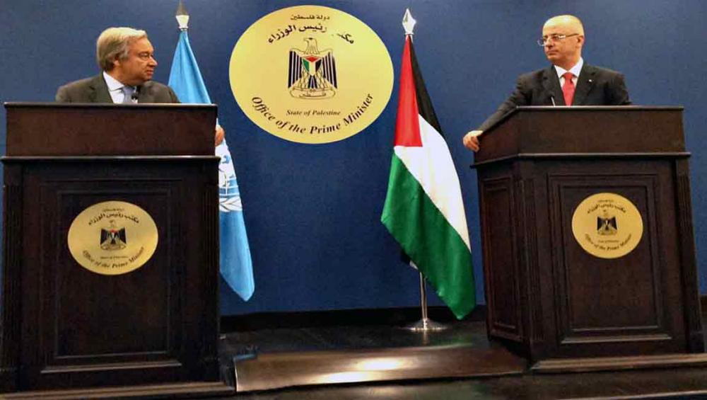 In Palestine, UN chief says two-state solution