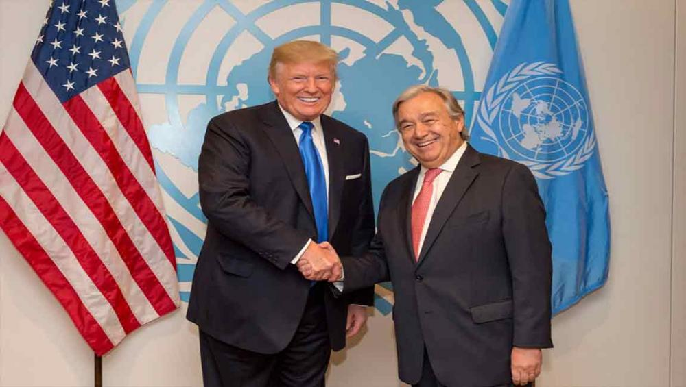 UN chief Guterres, US President Trump commit to work together to address common challenges