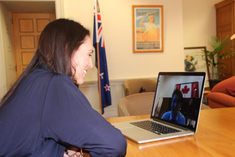 Trudeau Skype chat with NZ PM-elect Jacinda Ardern