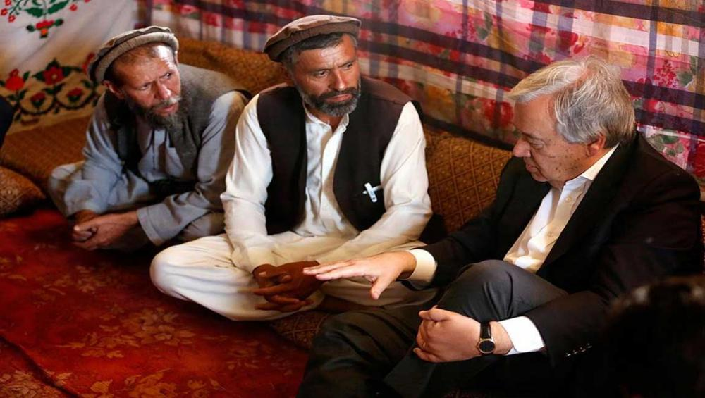 In Kabul, UN chief calls for peace and compassion