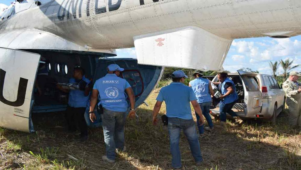 UN observers conclude FARC-EP arms removal process in Colombia