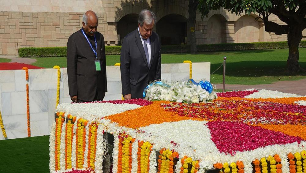 UN chief marks Non-Violence Day, urging world to follow Gandhi's example; 'the greatest soul that ever lived'