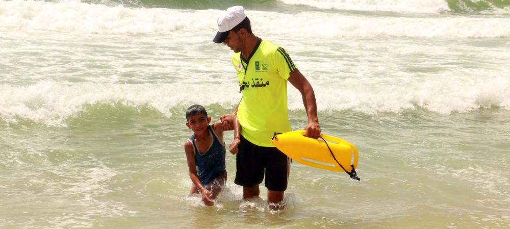 UN development agency provides lifeline to Gaza lifeguards, in bid to keep workers from debtors' prison