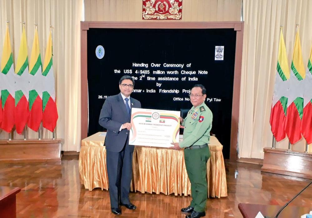 India grants $5 million in aid for development projects along Myanmar border