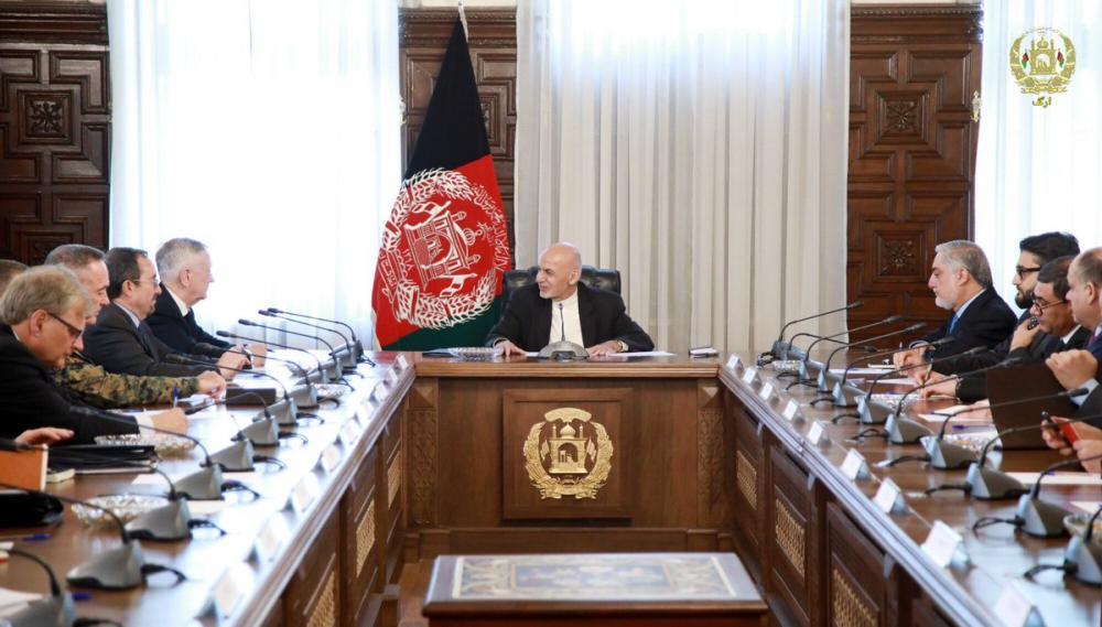James Mattis visits Afghanistan, meets President Ashraf Ghani