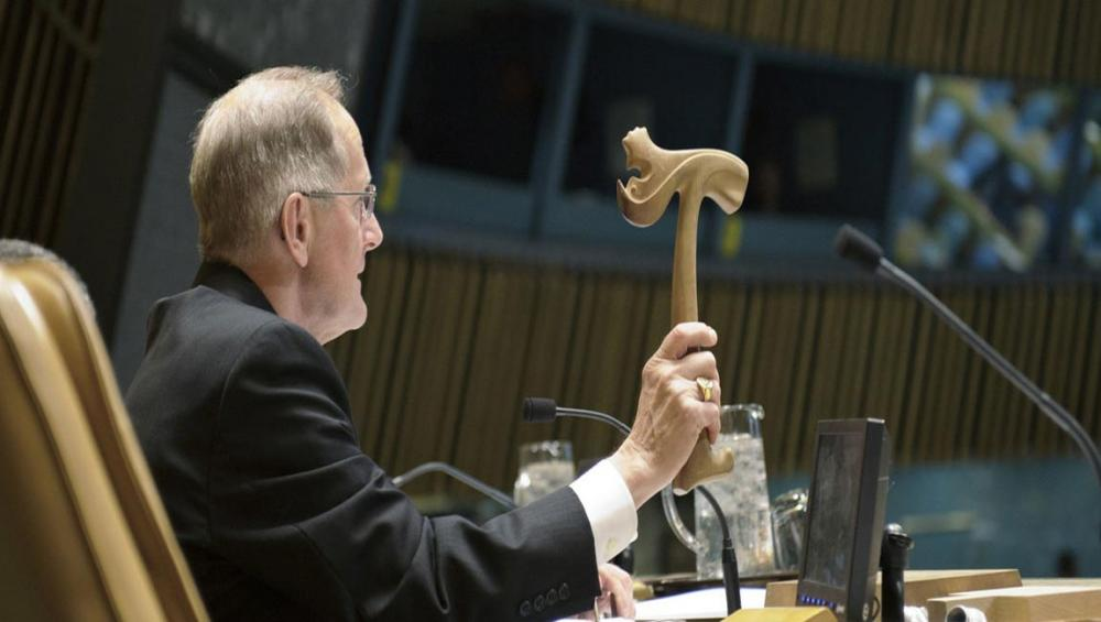 Keeping order in the General Assembly: The strange saga of how a Viking gavel was broken, then lost, then carved again