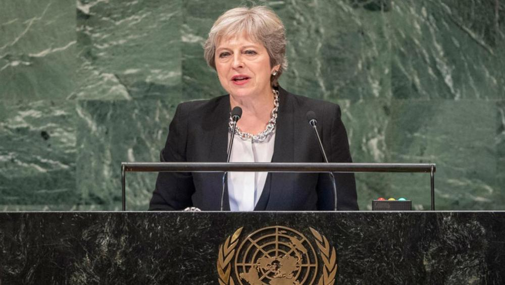 UK's May stresses global cooperation at UN General Assembly