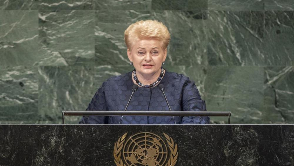 Reject passivity and embrace 'responsibility for our future,' Lithuania's President tells UN Assembly