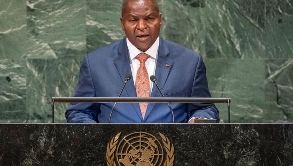 From UN Assembly podium, Central African Republic leader appeals for lifting arms embargo