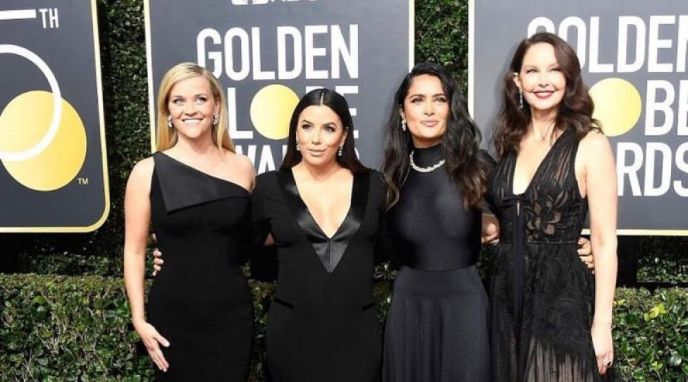 Sea of black in Golden Globes Awards ceremony to mark protest against sexual harassment