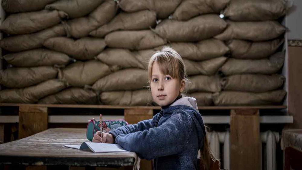 Ukraine: 200,000 children forced to learn in bullet-riddled classrooms