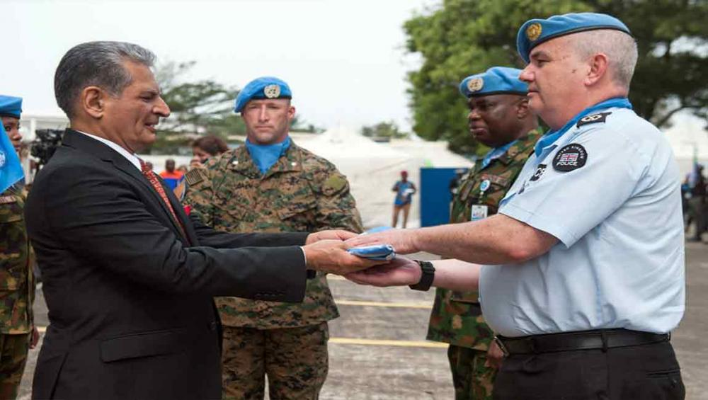 Liberia: UN mission farewell ceremony honours last departing police and military personnel
