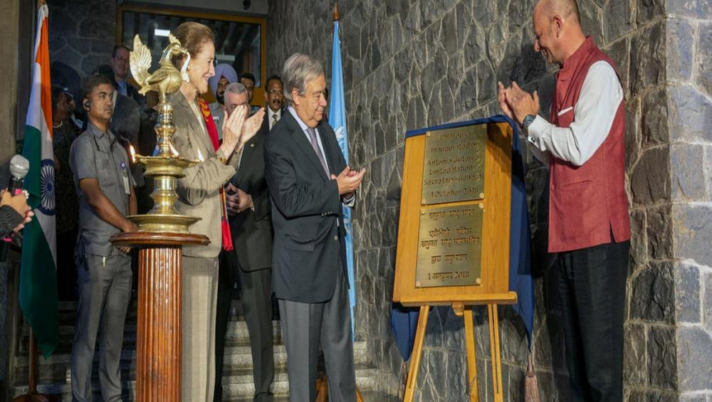 UN chief inaugurates new UN headquarters in Indian capital, as official visit gets underway