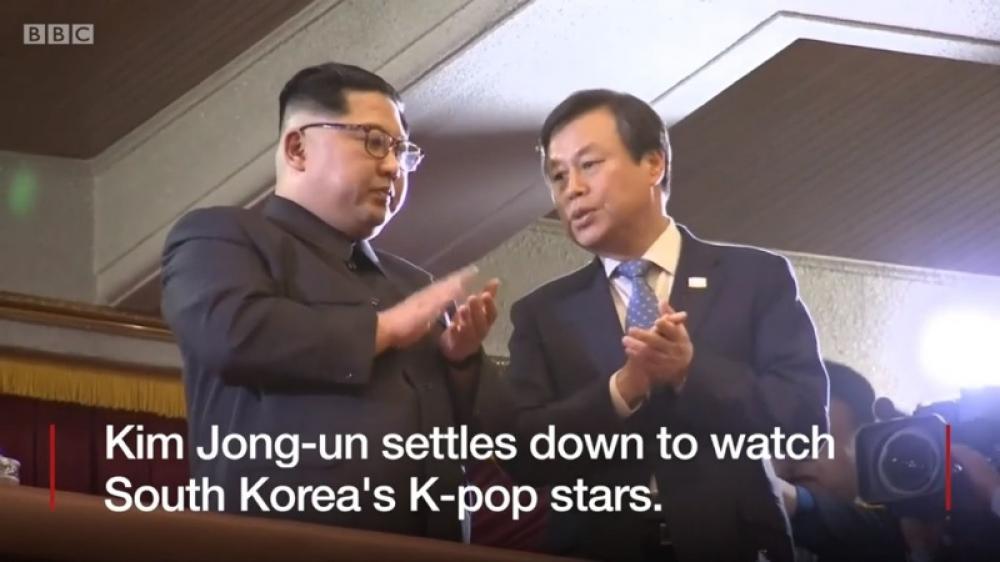 Kim Jong-un, wife attend K-pop concert in Pyongyang
