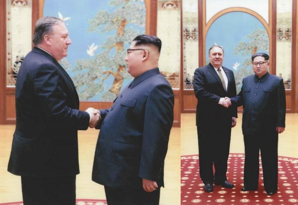 White House releases pictures of Mike Pompeo's meeting with N Korean leader Kim Jong Un