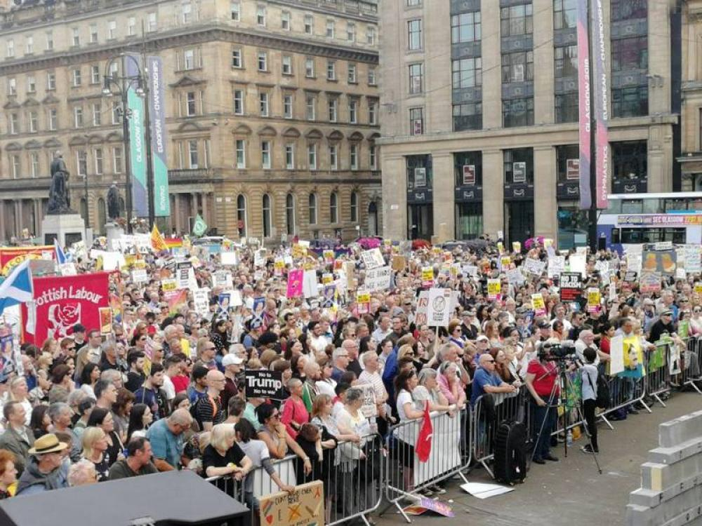 Dump Trump: Scotland protests US President's visit to the country