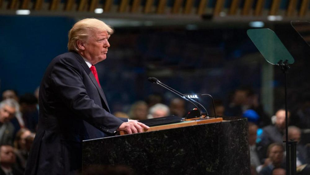 US President Trump rejects globalism in speech to UN General Assembly's annual debate