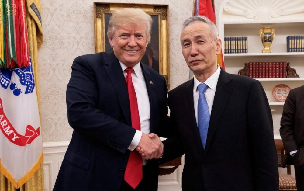 US President Donald Trump meets with Chinese Vice Premier Liu He, talks trade