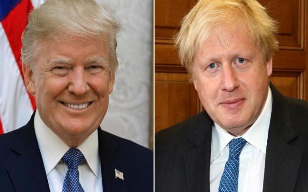 Trump, Boris Johnson speak over phone on bilateral ties