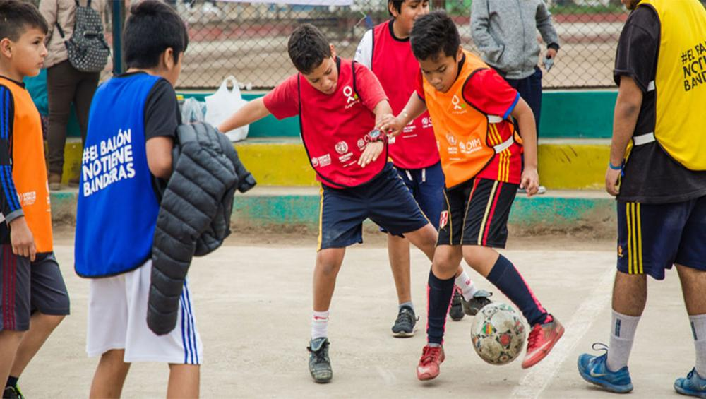 Football is 'refuge for those who have left everything'; UN initiative aims to bolster well-being of refugee, migrant children in Peru