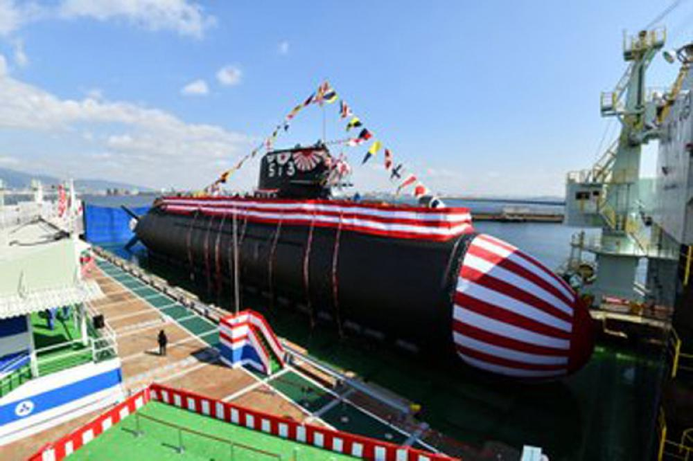 Japan unveils new submarine amid China's growing aggression