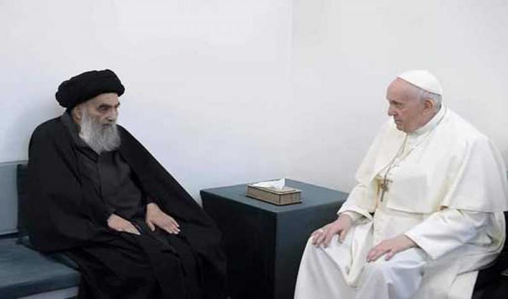 Pope Francis and top Shia cleric Ali al-Sistani hold historic meeting, discuss issue of safety of Iraqi Christians