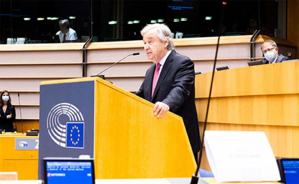 UN chief urges European Parliament to support COVID vaccines for all