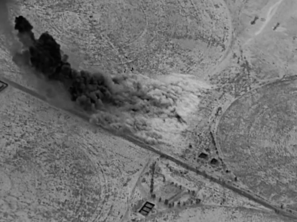 US bombing on Iraq-Syria border aimed at destroying sites used to launch sophisticated drone attacks by Iran