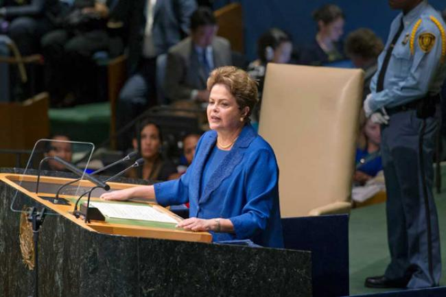 At UN Assembly, Brazilian president calls for global economic rebound