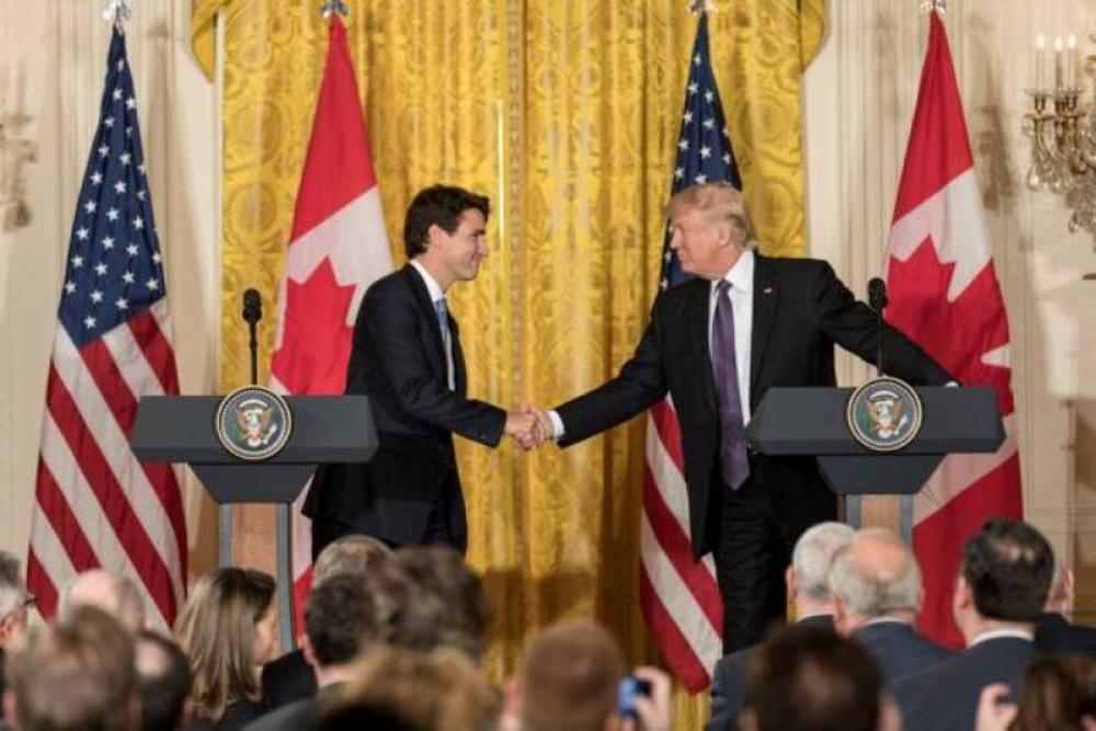 Trade tariffs exemption only if new NAFTA signed, Trump warns Trudeau