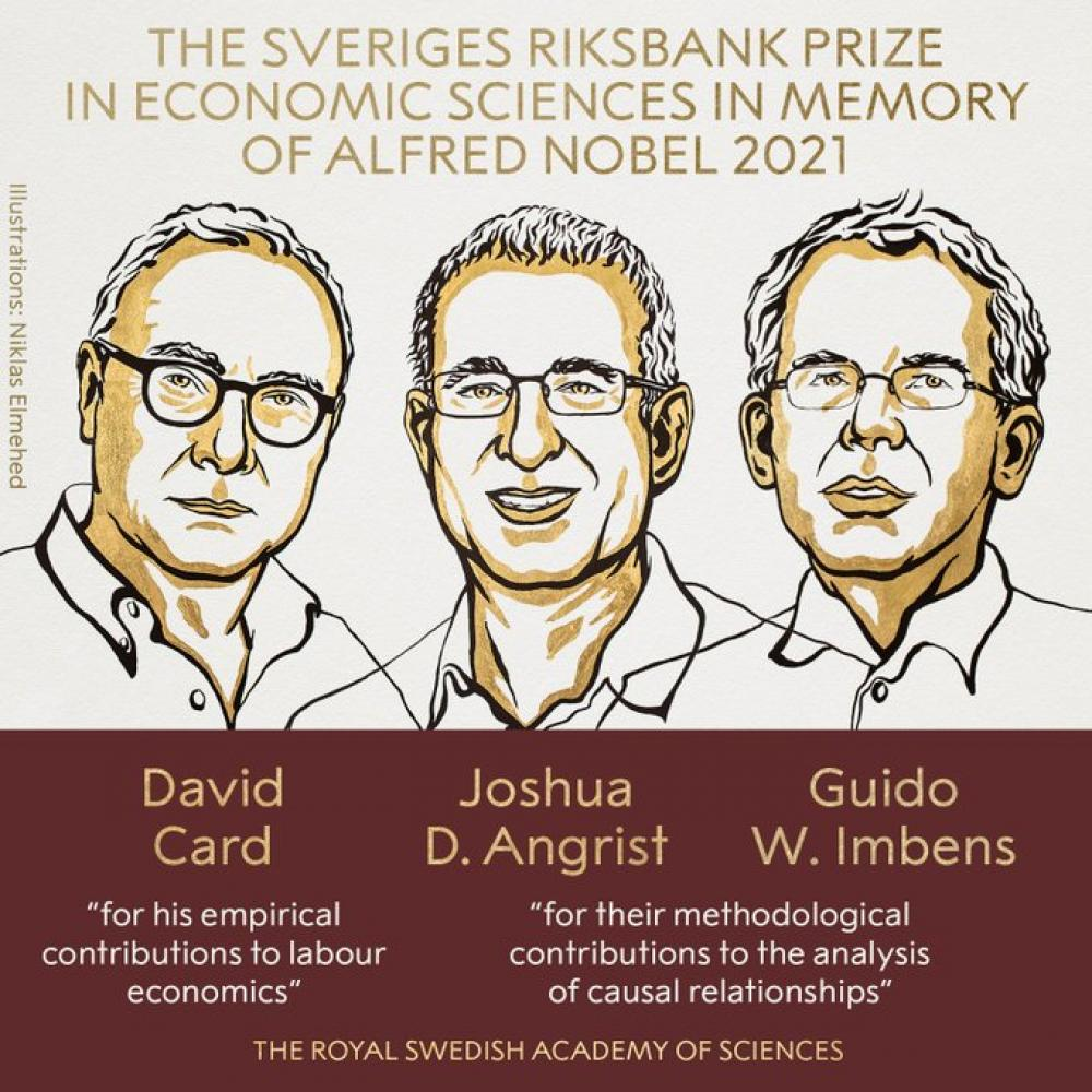 David Card, Joshua Angrist and Guido Imbens win Nobel Prize in Economics