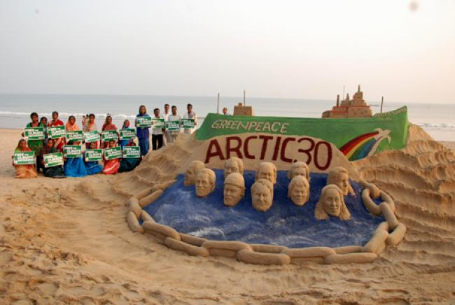 Artist Sudarshan campaigns for Arctic