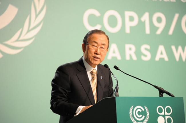Climate finance essential to address climate change: Ban