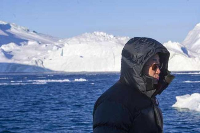 Greenland: Ban wraps up visit with tour of Ilulissat Icefjord