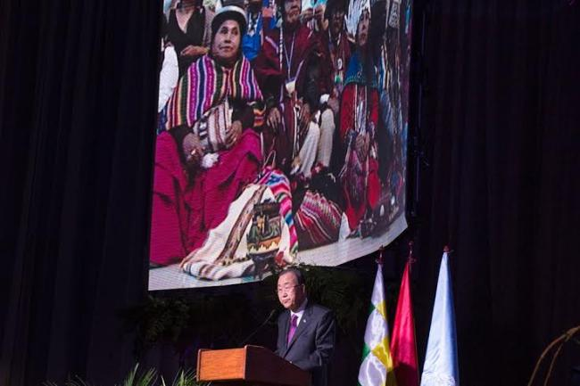 Bolivia: Ban urges action on climate change, says caring for planet is moral issue