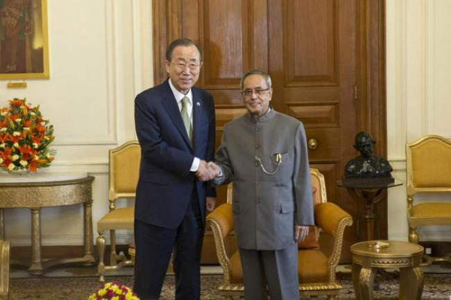 In India, UN chief commends country's leadership on climate change
