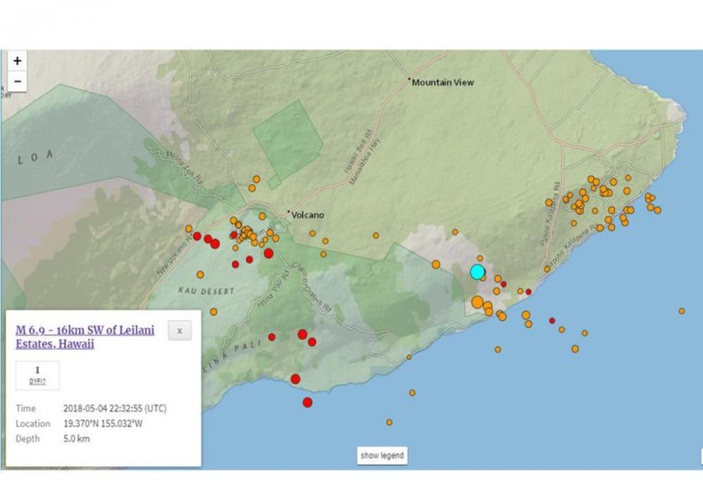 6.9 earthquake hits Hawaii, no casualty reported