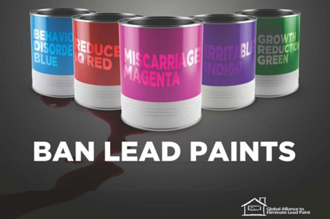 UN urges countries to end use of lead paint