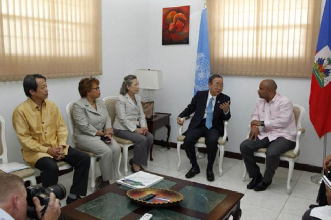 In Haiti, Ban calls for greater efforts to improve water and sanitation, end cholera epidemic