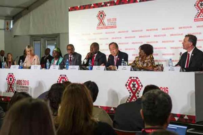 Addressing AIDS conference in South Africa, Ban calls for scaling up global response