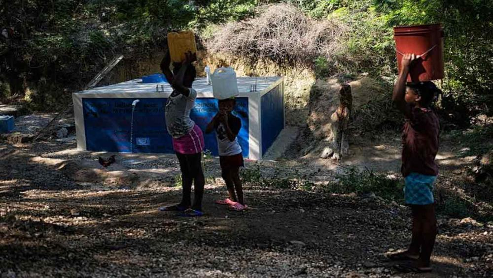 Haiti: UN inaugurates water supply system in Lascahobas as part of anti-cholera fight