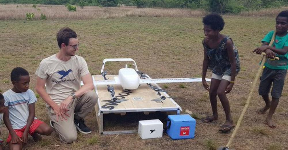 One small flight for a drone, one 'big leap' for global health