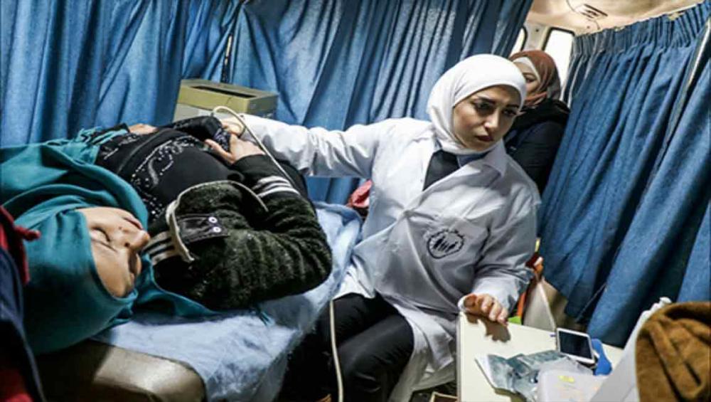 UN agency's mobile reproductive health teams reach women in besieged area of Aleppo